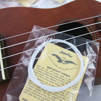 "10 sets White Nylon Hawaii Guitar 4 Strings Soprano Concert 21"" 23"" Ukulele Strings-in Guitar Parts & Accessories from Sports & Entertainment on Aliexpress.com"