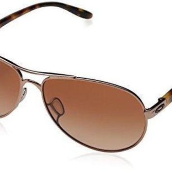 VLX9RV Oakley Women's Feedback OO4079 Aviator Sunglasses
