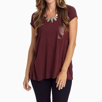 Burgundy-Leather-Pocket-Accent-Top