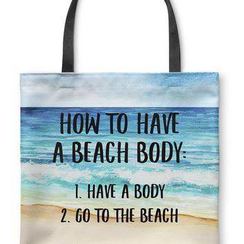 BEACH BODY Tote Bag By Terri Ellis