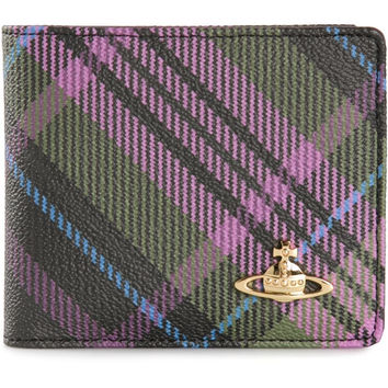 Vivienne Westwood / Check Print Foldover Wallet