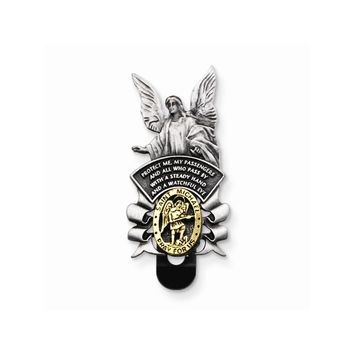 St Michael/Guardian Angel Visor Clip - Perfect Religious Gift