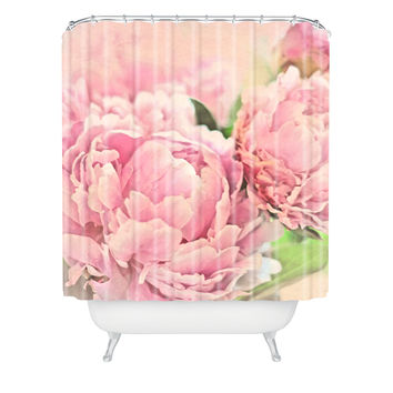 Lisa Argyropoulos Pink Peonies Shower Curtain