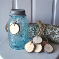 Rustic Wood Tags Crafts Weddings Decor DIY Tree Slices Set of Ten