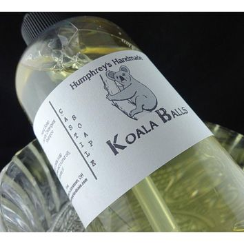 KOALA BALLS Body Wash | Peppermint Eucalyptus Scent | Unisex | 8 oz | Beard Wash | Essential Oil