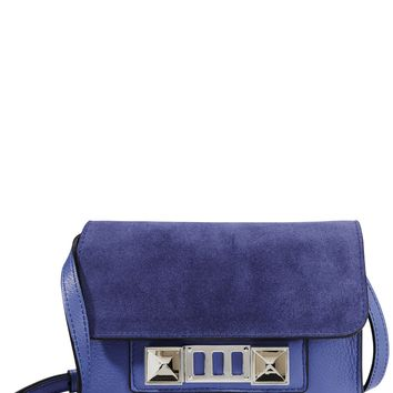 PS11 Wallet Blue Suede Bag
