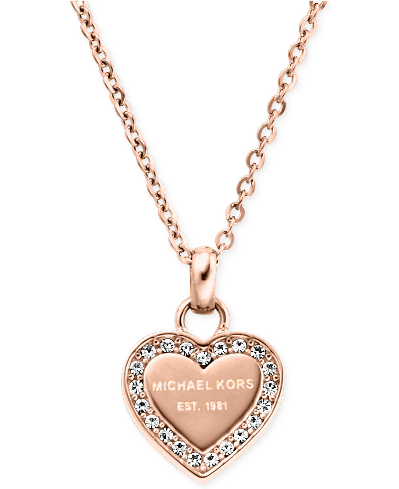 Michael kors crystal heart pendant from macys jewelry for Michael b jewelry death