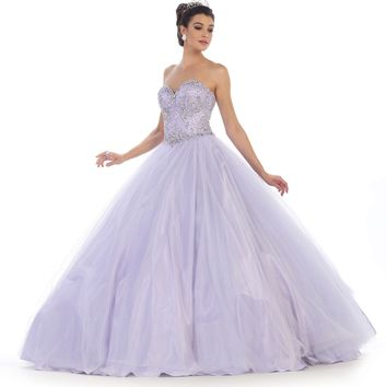 Long Quinceanera Ball Gown Sweet 16 Dress