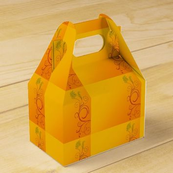 Orange Flower Favor Box