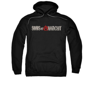 SONS OF ANARCHY BEAT UP LOGO Adult Fleece Pull Over Hoodie