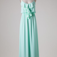 Ruffle Maxi Dress - Mint