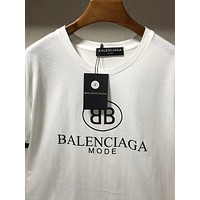 x1love Balenciaga  women's slim fit embroidered V-neck T-shirt