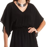 Bloused Kimono Sleeve Tunic Top by Charlotte Russe