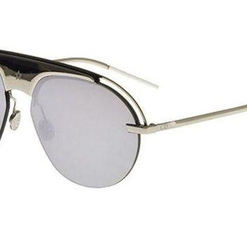 ONETOW New Christian Dior DIO(R)EVOLUTION 2 010/0T Silver/Grey Silver Sunglasses