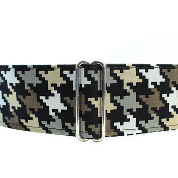 Houndstooth Martingale Collar, Houndstooth Dog Collar, Boy Dog Collar, Martingale Collars for boys, Greyhound Collar