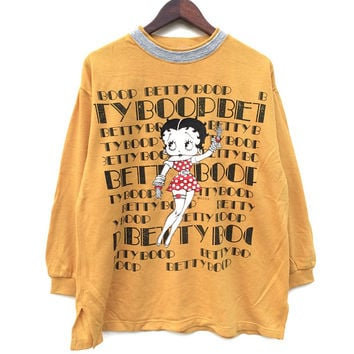 Vintage Betty Boop Sweatshirt / XL / WOMEN / Cartoon / Vintage Sweatshirt / Jumper / Retro / Casual / Mickey Mouse / Minnie Mouse
