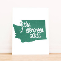 Washington State Art PrintableTypography Poster Dorm Decor Home Decor Office Decor Poster