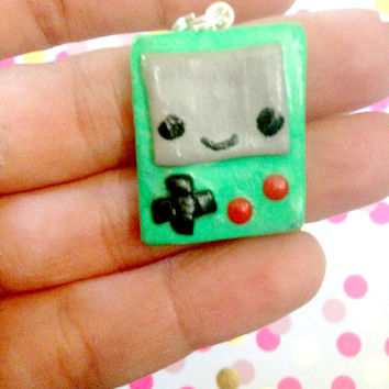 Kawaii Gameboy Charm//Geekery//Polymer Clay//Gamer Girl//Gift Ideas//Stocking Stuffers//Cyber Monday