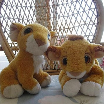 The Lion King - Vintage Baby Simba Plushes - 90's