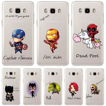 Cool Marvel Heros Hard Back Phone Case Cover For Samsung Galaxy J3 J5 J7 A3 A5 2016 2015 Grand Prime G531 S4 S5 Mini S6 S7 Edge