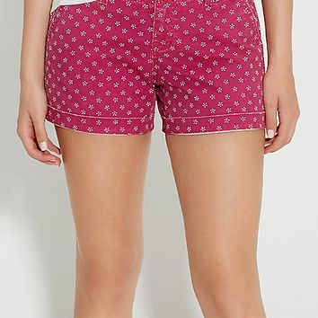 chino shorts in berry floral dot print | maurices