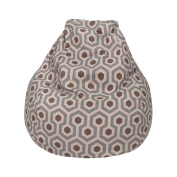 Large Teardrop Magna Print Bean Bag Natural Pewter