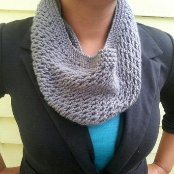Lightweight Hand Knit Mesh Cowl Choose from a Variety of Colors
