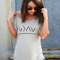 God Is Greater Tee {Stone}
