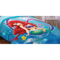 Little Mermaid Twin - Full Bed Comforter Flower Swirls Blanket