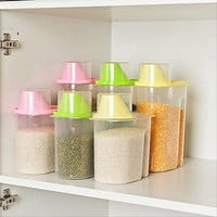 1.9/2.5L Plastic Food Storage Box Grain Container Kitchen Organize Tools Case EW