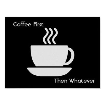Coffee First --- Poster art