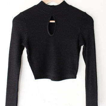 Keyhole Ribbed Crop Top