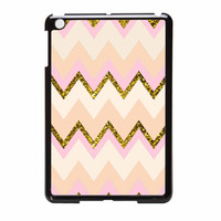 Gold Pink Chevron iPad Mini Case
