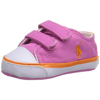 Ralph Lauren Carson II EZ Infant Girls Signature Crib Shoes