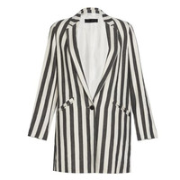 Zara Striped Coat