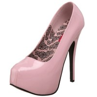 Bordello by Pleaser Women's Teeze-06 Pump,Baby Pink Patent,9 M US