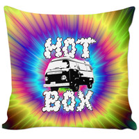 Stoner Tie Dye Hot Box Pillow