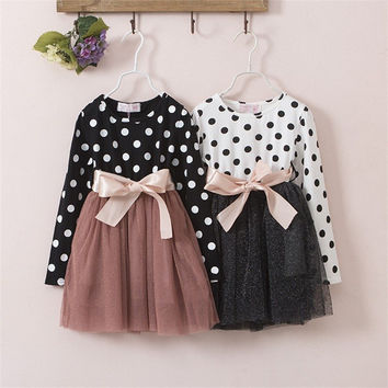 GIRL'S GORGEOUS POLKADOT DRESS