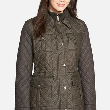 Women's MICHAEL Michael Kors Quilted Field Jacket with Bib Inset,