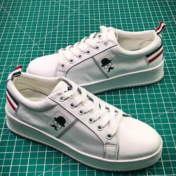 PEAP2Q 2018 Newest ASH White Leather Sneakers