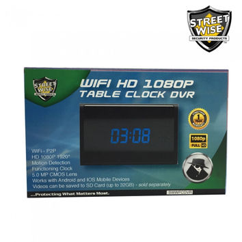 Streetwise WiFi HD Table Clock DVR Camera