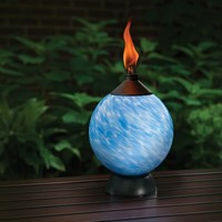 TIKI 1112450 Lamplight Glowing LED and Flame Table Torch