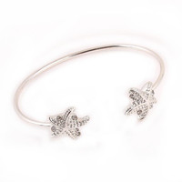 Starfish Cuff Bracelet - Gold or Silver