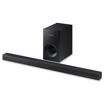Samsung HW-K360 Sound Bar Speaker - Wireless Speaker(s) - Portable - Wall Mountable - Black - Surround Sound, Dolby Digital, DTS 2.0 Channel - Wireless LAN - Bluetooth - USB - Night Mode, Digital signal processing (DSP), Auto Power Link, TV SoundConnect