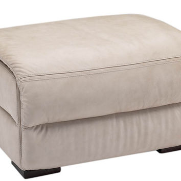 Genoa Leather Ottoman by Natuzzi Editions