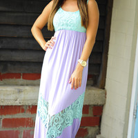 All Outta Love Maxi Dress: Lavender/Mint | Hope's