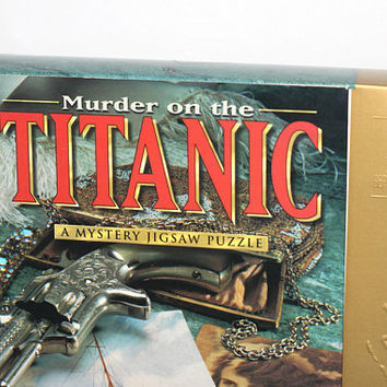 Titanic Mystery Puzzle | Boxed Jigsaw Puzzle Titanic Theme with Story and Complete 1000 Piece Puzzle | Murder on the Titanic Puzzle