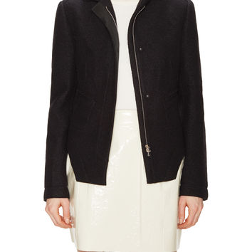 Boiled Wool Extended Hem Jacket