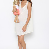 Daddy's Girl Shift Dress: White - Kids