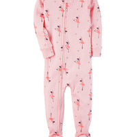 1-Piece Ballerina Snug Fit Cotton PJs